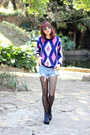 Oasap-sweater-romwe-boots-oasap-tights-oasap-shorts