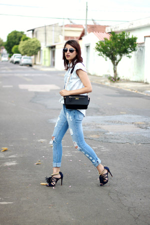 black My Shoes Itu bag - light blue mickey Primark shirt