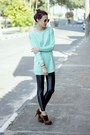 Brown-leopard-oasap-boots-aquamarine-romwe-sweater