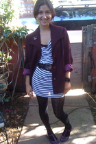 blazer - H&M dress - belt - DSW tights - shoes