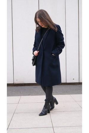 black Zara boots - black Daniel Wellington watch - black mypointmystyle bracelet