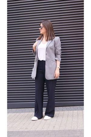 second hand blazer - H&M t-shirt - second hand pants