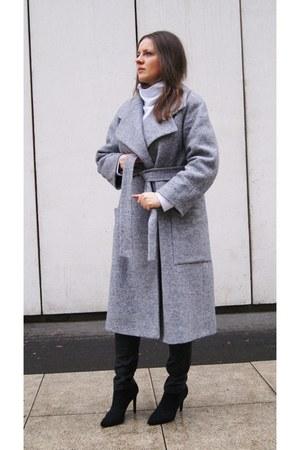 heather gray DIY coat