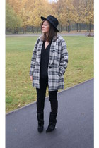 black Choies boots - black H&M hat