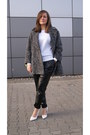 Charcoal-gray-sh-coat-black-faux-leather-diy-pants-white-mango-wedges