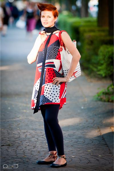 handmade dress - ELISABETTA COSMO bag - LA SCARPETTA DI VENERE flats