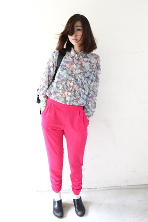balenciaga bag - Comme des Garcons flats - Primark pants - American Apparel top