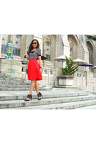 Nordstrom top - hm skirt - Dolce Vita heels