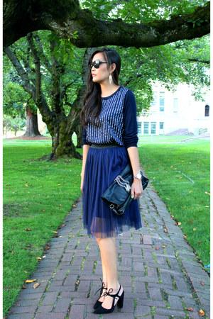 H&M sweater - Zara heels