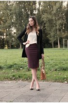 crimson Sutherland skirt - black H&M jacket - beige h&m divided top
