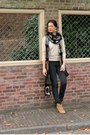Tawny-dicker-bullboxer-boots-army-green-crochet-diy-scarf-black-h-m-pants