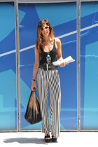 pijama Zara pants - open Mango t-shirt - black Zara wedges
