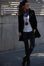 blazer - coat - necklace - t-shirt - pants