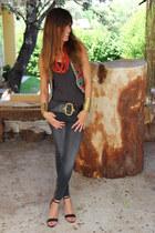 ethnic Zara vest - skinny Bershka jeans - ankle Trucco sandals