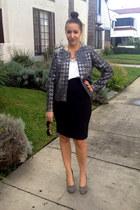 houndstooth J Crew blazer - pencil skirt H&M skirt - studded Dolce Vita heels