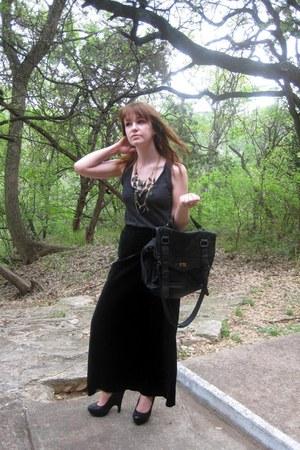 Target bag - feather Forever 21 necklace - velvet vintage skirt
