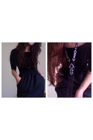 forever 21 top - American Apparel skirt - necklace