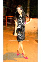 black ITS bag - black Cherokee belt - black top - black velvet skirt Sea Mermaid