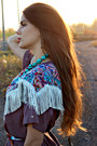 Light-purple-fringe-vintage-top-turquoise-necklace