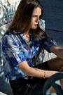 Silk-tie-dye-bcbg-top-faux-leather-bcbg-skirt