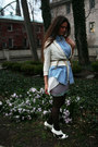 Handmade-dress-denim-thrifted-vintage-shirt-studded-gojane-heels-limited-c