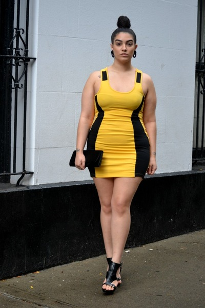 Dresses black and yellow