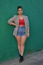 blazer - heels - top