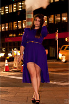 violet dress - black Jessica Simpson heels