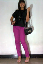 pink Forever 21 jeans - black bonus from Gogirl Magz blouse - pink Marie Claire