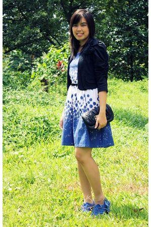 blue Natalie and Me dress - black Magnolia blazer - black Mphosis belt - black t