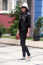 black NyLa jacket - black random top - black random tights - blue rubi shoes