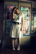 arnessio blouse - vintage skirt - thrifted belt - Marie Claire shoes