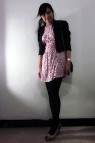 pink Magnolia dress - black Magnolia blazer - pink Marie Claire shoes - black th