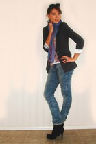 Jus dOrange jacket - H&M jeans - terranove vest - Oneill t-shirt - shoes - Ray B
