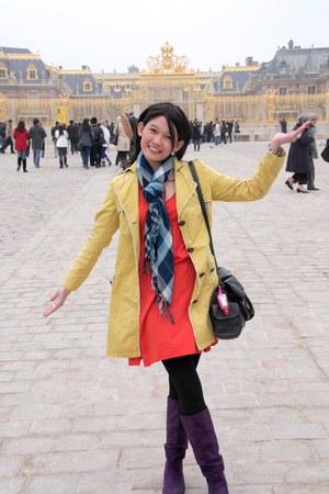 Zara dress - Random American Brand boots - Random HK brand coat