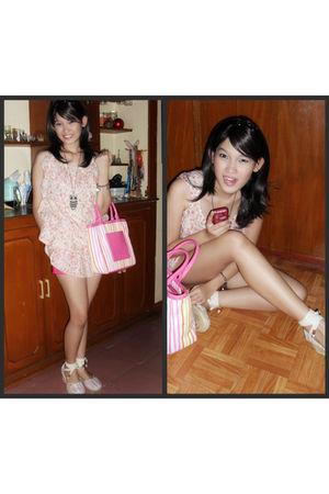 pink Jellybean blouse - pink Jellybean shorts - pink liz claiborne - pink Roxy s