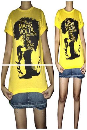 yellow JungleDrum t-shirt - gray Bubblegum skirt