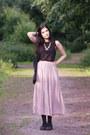 Light-pink-street-style-oasap-skirt