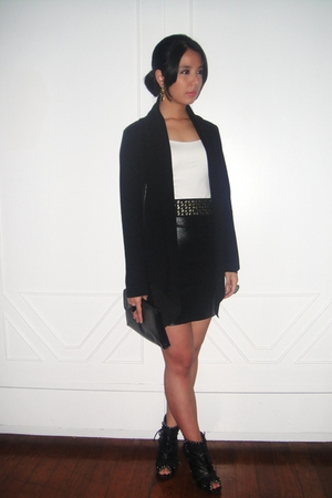 black Tango blazer - black People are People skirt - white Zara top - Glitterati