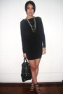 Black-mango-dress-black-boutique-shoes-black-bag-silver-random-accessories