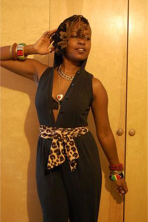 leopard print naKiMuli belt - jumper