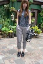 stuart weitzman shoes - H&M vest - H&M pants - balenciaga purse