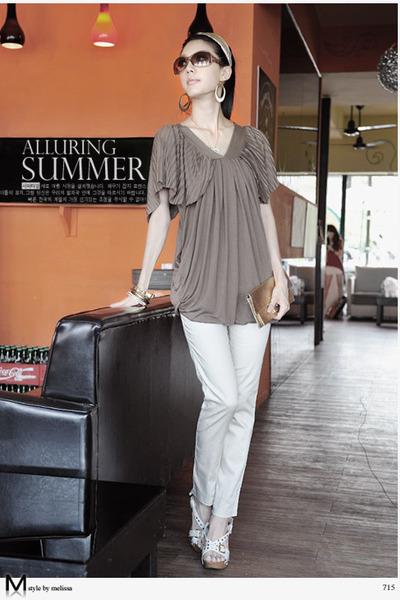 brown Melissa blouse