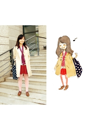 accessories - skirt - H&amp;M coat - scarf
