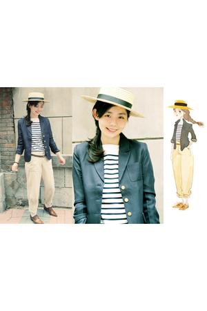 suit - Muji shirt