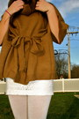 Brown-steve-madden-wedges-burnt-orange-h-m-sweater-ivory-forever21-tights