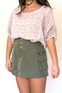 Ivory-forever-21-jacket-floral-print-vintage-shirt-army-green-h-m-skirt