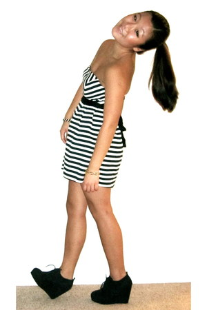 striped Forever 21 dress - white Francescas Boutique bag