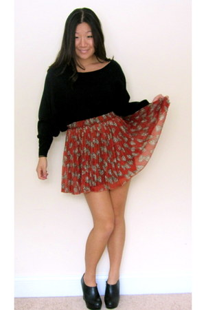 black Kenar sweater - cheetah bows Forever 21 skirt