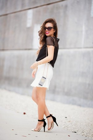 white Agaci skirt - black Agaci shirt - black Agaci bag